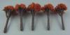 ジオラマ用模型樹木  20mm 赤茶色 10本入り