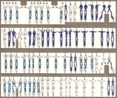 精密 1/350 アメリカ海軍乗組員 75体入 2つ折立体タイプ