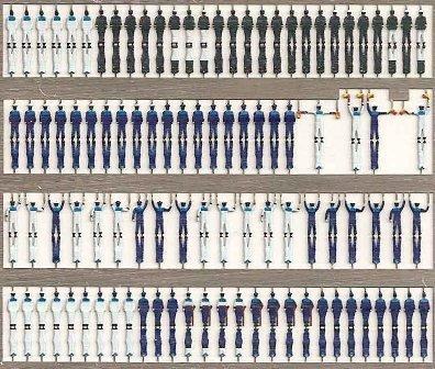 精密 1/350 ドイツ国防軍(海軍)乗組員 100体入 立体 第2次世界大戦