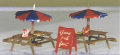 精密 Zゲージ テーブル、パラソル、看板 メタルキット 2セット
