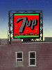 ジオラマ用ネオンサイン完成品 7UP 壁、窓、屋上看板用 Zゲージにも使用可