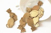 ブラス製ネコの装飾パーツ・デコパーツ|デッドストック(ヴィンテージ)USA
