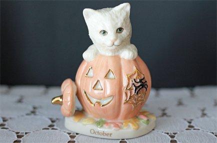 """【 Lenox 】カレンダーキャット """"October"""" ハロウィン"""