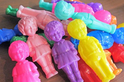イタリア製プラスチックドール 男の子と女の子 2体セット