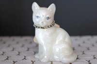 【 Fenton 】カレンダーキャット 12月のネコ(誕生石:ブルージルコン)