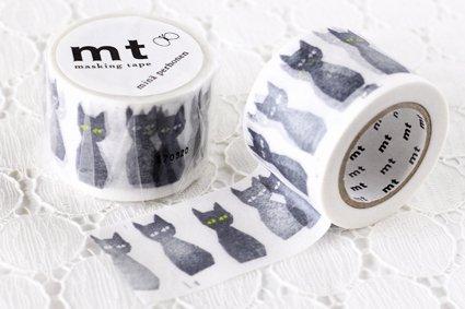 【 mt × mina perhonen 】マスキングテープ  クロネコ