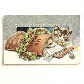 アンティークポストカード|US MAILとネコ