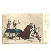 アンティークポストカード|やんちゃネコとネズミ達