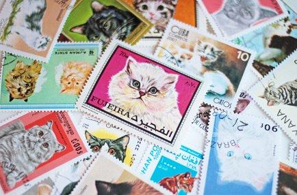 世界のネコ切手アソート 15枚入(古切手)