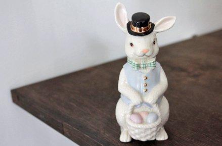 【 Lenox 】イースターエッグとウサギのフィギュリン