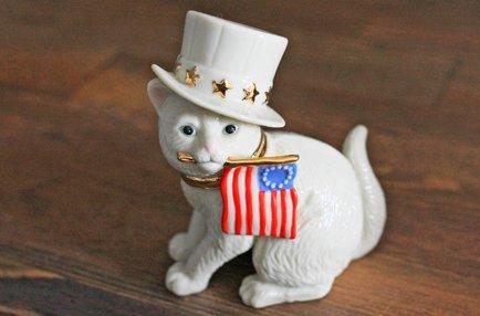 【 Lenox 】ネコと国旗  Independence Day