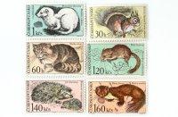 動物切手6種セット(未使用)|チェコスロバキア 1967年