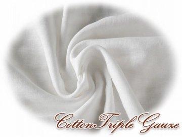 無添加 トリプルガーゼ 147巾 オフホワイト 2m#646