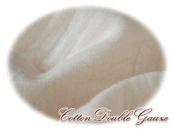 無添加 未漂白 平織Wガーゼ W巾 生成 2M#668