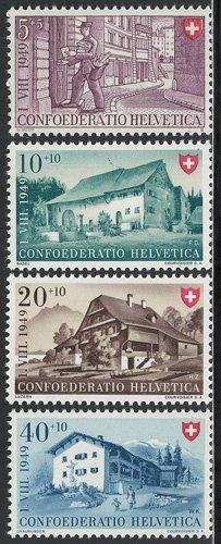 農家・郵便配達4種 スイス'49