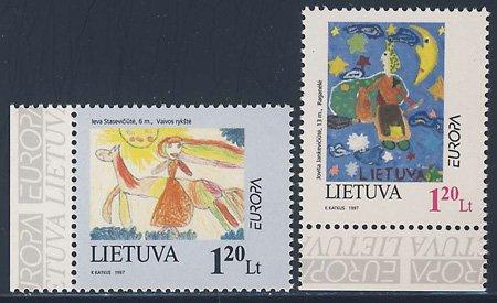 民話と伝説2種(タブ付き) リトアニア'97