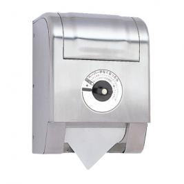 業務用トイレットぺーパーホルダー R5502(鍵付き/スペア1個収納)