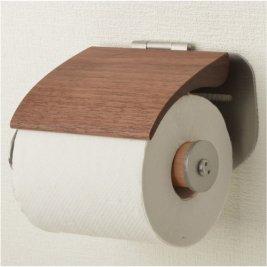 【受注生産】木製&ステンレス製トイレットペーパーホルダー SSA-TPH-BW-L