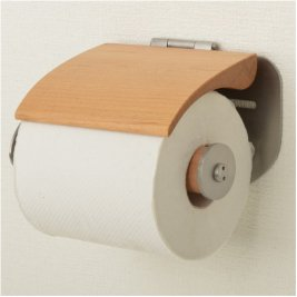 【受注生産】木製&ステンレス製トイレットペーパーホルダー SSA-TPH-CHR-L