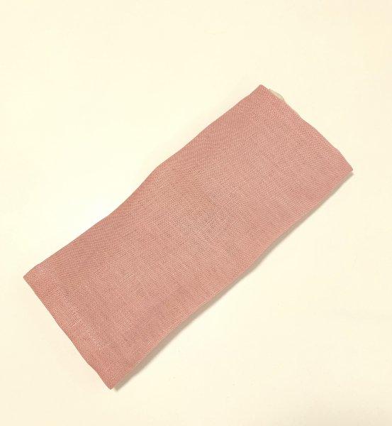 【よもごこち】温熱パット eye pillow * 桃いろ麻布カバー