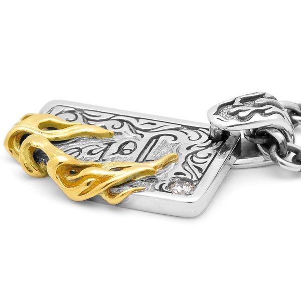 F.A.L / エフエーエル ジョークオアジョーカーブレイズペンダント ブラックバーツ限定 別注コラボモデルRe:mixアイテム K18 ダイヤモンド 受注生産品