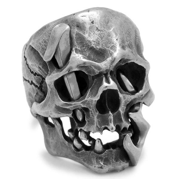 MAD CULT / マッドカルト 13 Skull Head 1 / 13スカルヘッド 1 スカルリング MC13-1 シルバー