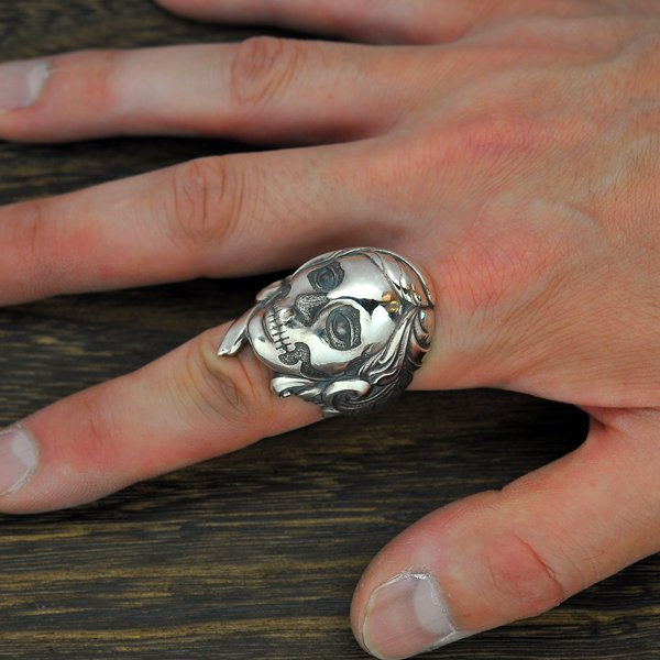 Rat Race / ラットレース R.A.W / Rat Another World / ラットアナザーワールド Skull Makeup Ring / スカルメイクアップリング RAWR-3SM<img class='new_mark_img2' src='//img.shop-pro.jp/img/new/icons1.gif' style='border:none;display:inline;margin:0px;padding:0px;width:auto;' />