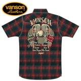 新作 VANSON / バンソン フライングイーグル チェックシャツ NVSS-904
