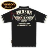 新作先行予約 VANSON / バンソン フライングスターエンブレム 天竺半袖ポロシャツ NVPS-905
