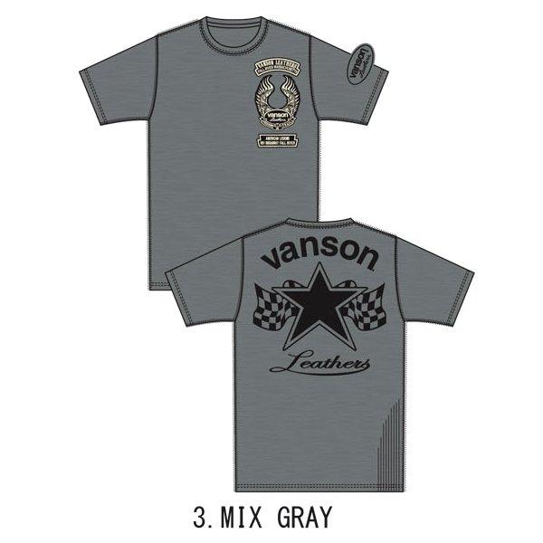 新作先行予約 VANSON / バンソン ワンスター フライス半袖Tシャツ NVST-909