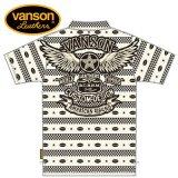 新作 VANSON / バンソン フライングスター ジャガード半袖ポロシャツ NVPS-908