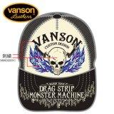 新作先行予約 VANSON / バンソン フレイムスカル ツイルメッシュキャップ NVCP-902