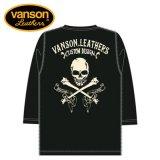 VANSON / バンソン クロスボーンスカル ドライ6分袖Tシャツ NVLT-907