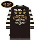 新作 VANSON / バンソン スリースター サーマル6分袖Tシャツ NVLT-909