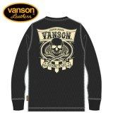 新作先行予約 VANSON / バンソン クロススパナスカル アイレットサーマル長袖Tシャツ NVLT-912