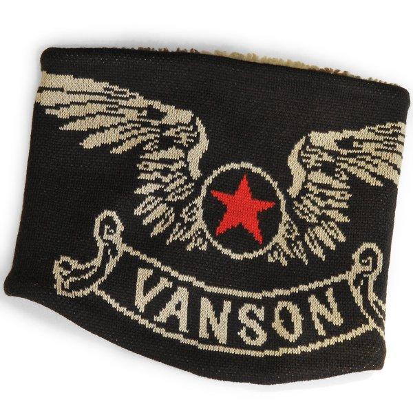 VANSON / バンソン フライングエンブレム アクリルジャガードリバーシブルネックウォーマー NVNW-902