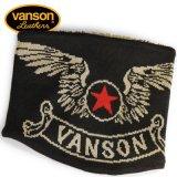 新作先行予約 VANSON / バンソン フライングエンブレム アクリルジャガードリバーシブルネックウォーマー NVNW-902