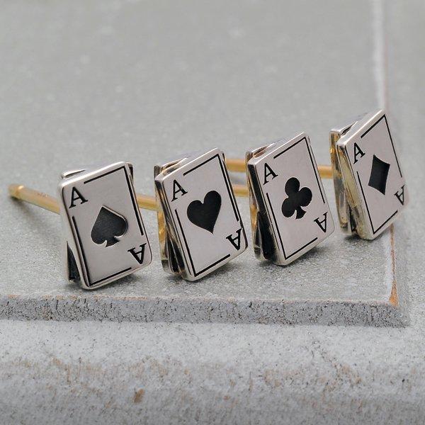 Ark silver accessories / アークシルバーアクセサリーズ ダイヤAカードピアス