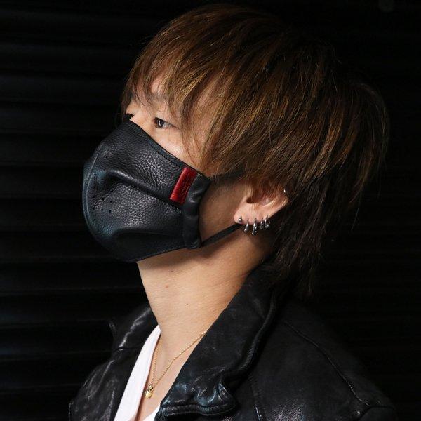 MAD CULT / マッドカルト MC Leather Mask-BB / MCレザーマスク-BB ブラック LO-09