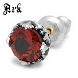 Ark silver accessories / アークシルバーアクセサリーズ ロイヤルクラウンピアス ガーネット ARKP-0029GASV