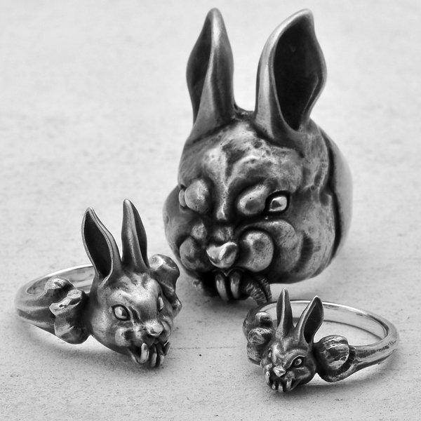 MAD CULT / マッドカルト Evil Rabbit-R XL / イーヴィルラビット リング XL R-66