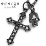 emerge / エマージュ CSペンダント ブラックコーティング ブラックキュービックジルコニア