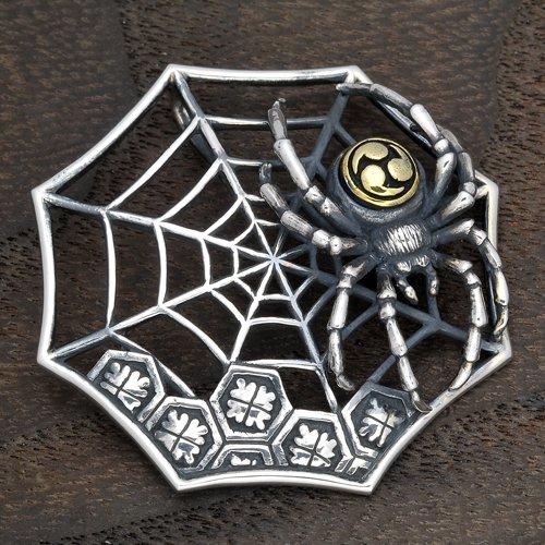 然 / 蜘蛛の巣に三つ巴蜘蛛 ペンダント