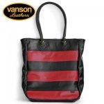 VANSON / バンソン レザートートバッグ ブラック×レッド 牛革 アメリカ製