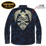 VANSON / バンソン フライングイーグル カモフラージュ 迷彩総柄シャツ NVSL-602 在庫限り セール SALE