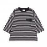 7 SLEEVE BORDER TEE / BLACK×WHITE