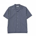 S/S STRIPE SHIRTS / NAVY