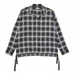 BIG RAYON CHECK SHIRTS / BLACK