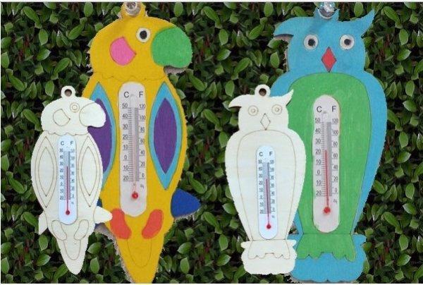 鳥の温度計お絵描きキット