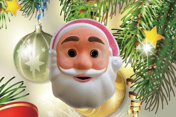 サンタさんの色付けマスク